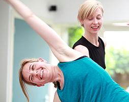 Private Pilates lessons with our trainees